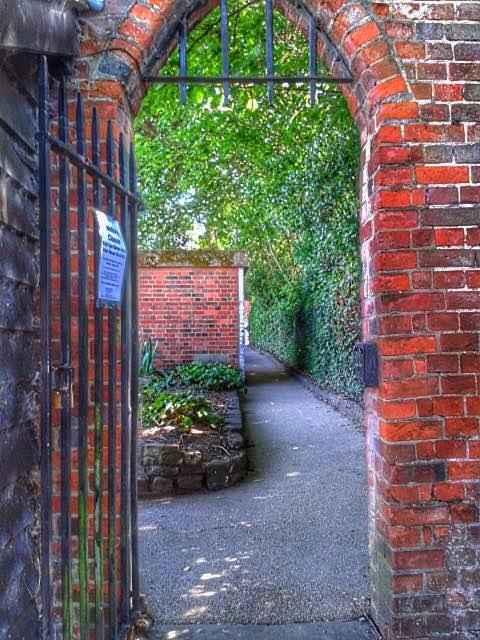 Gated Archway Allen House Walled Garden