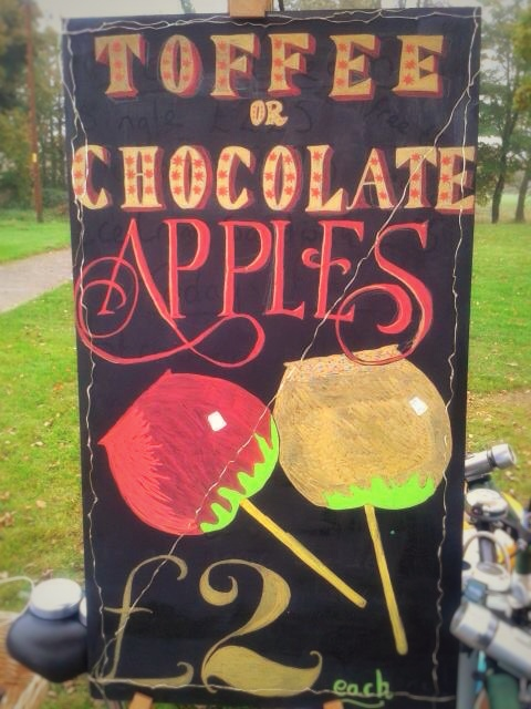 Toffee Apple Chocolate Apple Chalkboard