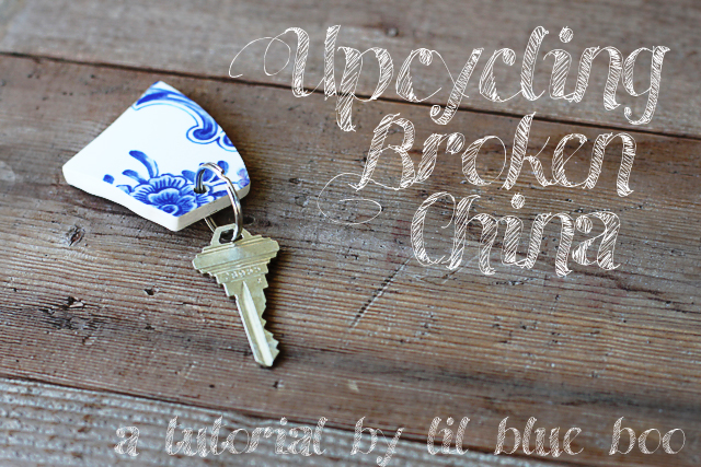Vintage Crockery Key Ring