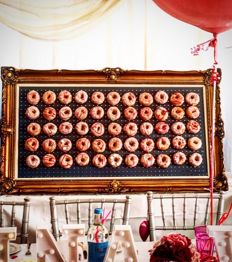 Gold Frame Donut Wall