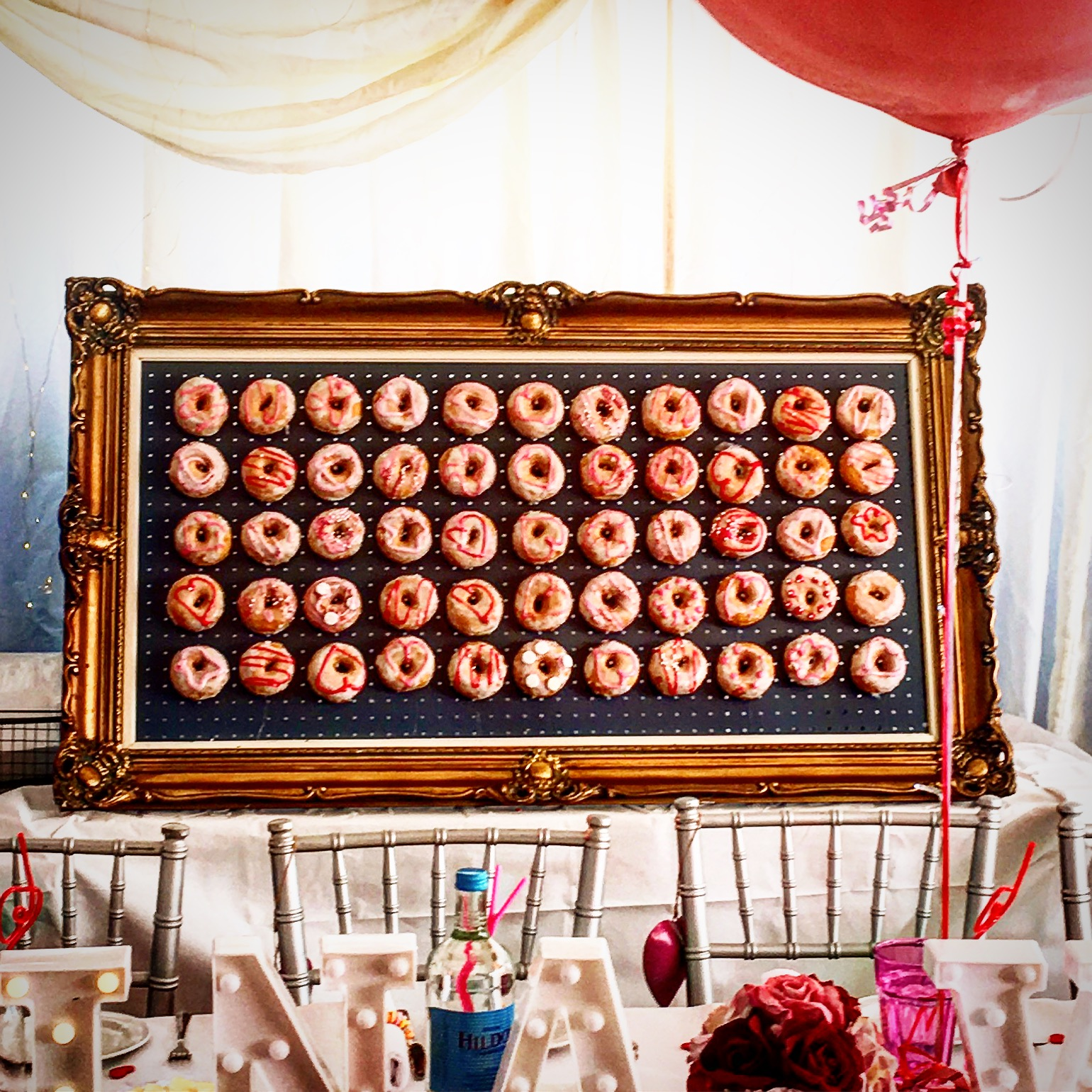Bespoke doughnut walls for hire